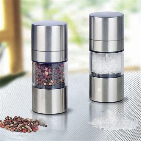 aliexpress kitchen accessories 2016 stainless steel manual salt pepper mill grinder