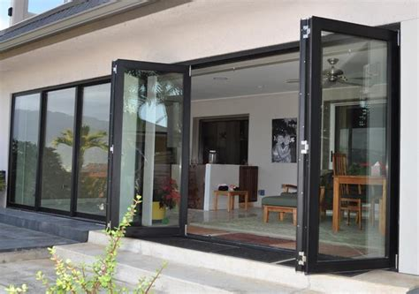 China Classical Aluminum Folding Door Internal Blinds Or Folding Glass Doors Cost