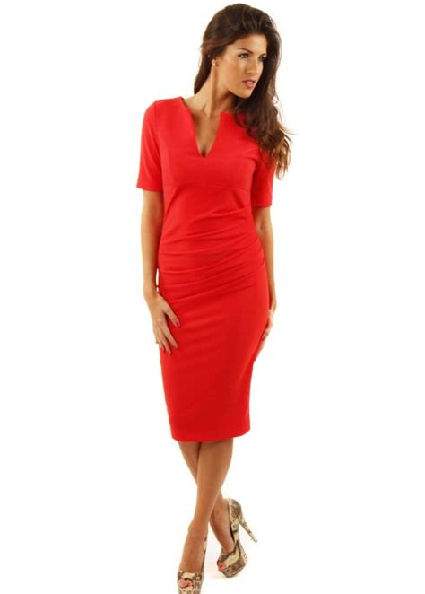 draped red dress charming dress red draped pencil dress designer pencil