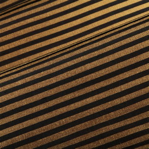 Horizontal Stripe Drapery Fabric black and gold horizontal stripe faux silk drapery fabric sw52584 discount fabrics