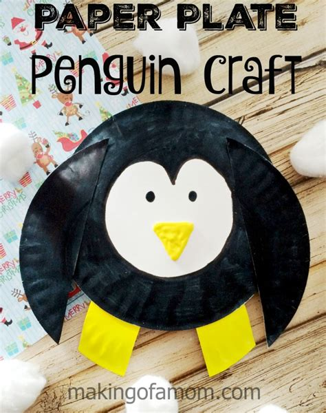 Paper Plate Penguin Craft - penguin paper plate craft of a