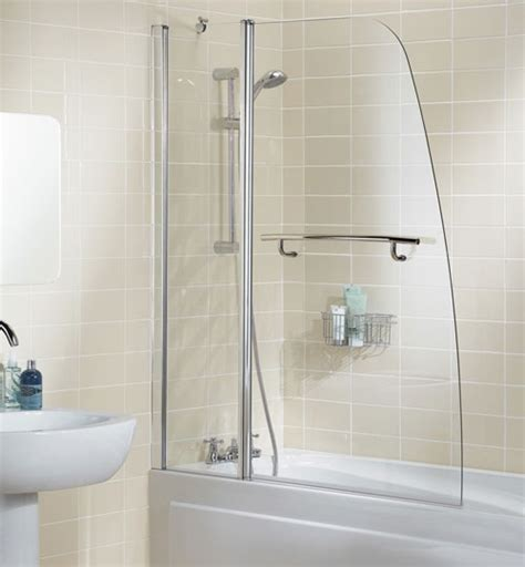 Bathroom Shower Screens Lakes Sculpted Bath Shower Screen With Rail 1175mm Ss44 05