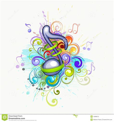 colorful music notes stock photography image 15888072