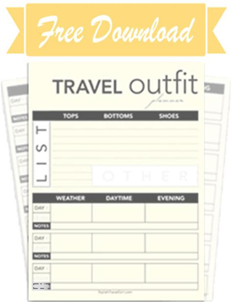 printable outfit planner get your free travel outfit planner