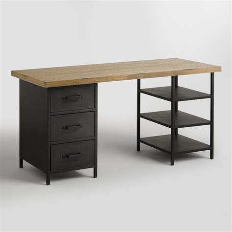 Desk Shelf by Wood Top Colton Mix Match Desk With Shelf And Drawers