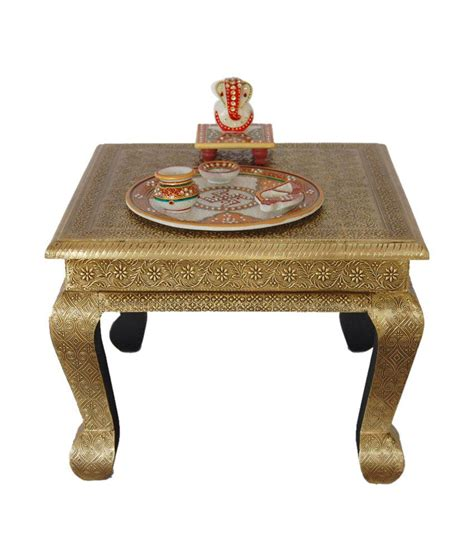 brass fitted decorative chowki stool buy at best
