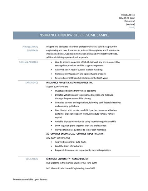 insurance adjuster resume resume ideas