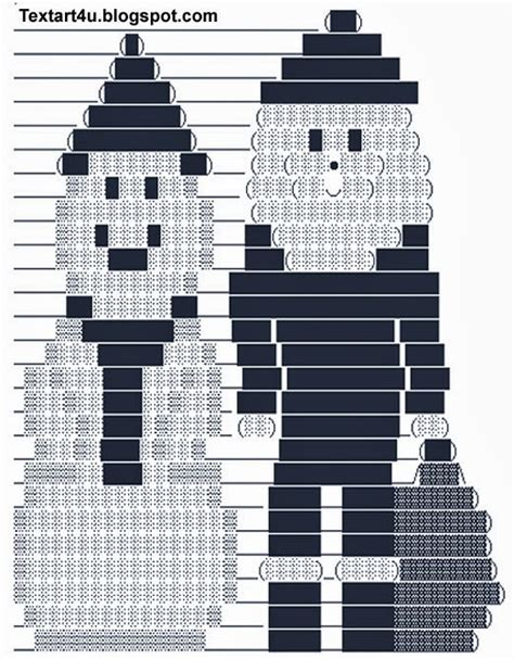 santa  snowman ascii text art  facebook cool ascii text art