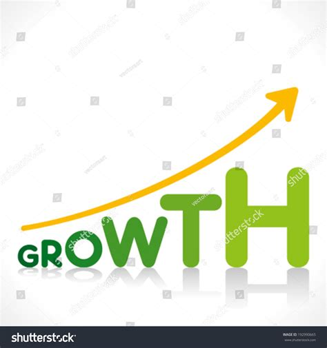 growth on creative business growth graphics design growth stock vector 192990665
