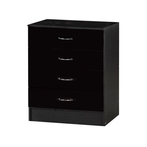 Alpha Drawers by Alpha Black Gloss Two Tone Chest Of 4 Drawers Ark Furniture