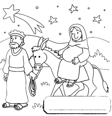coloring pages mary and joseph bethlehem free coloring pages of mary on a donkey