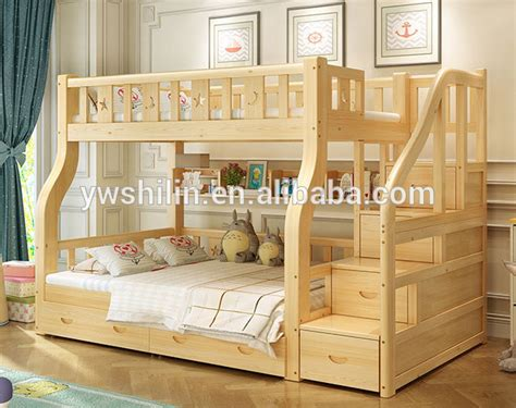 design kids bunk bed solid wood kids double deck bed