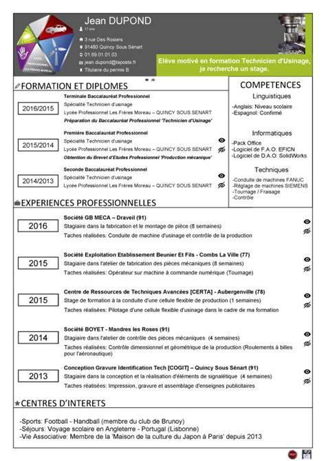 Formulaire Cv by Formulaire Pour Cr 233 Er Un Curriculum Vitae Technicien D