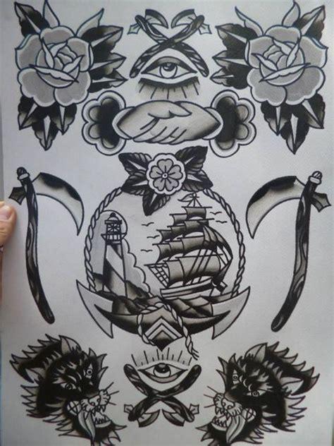black traditional flash tatuajes tradicionales tatuajes and tatuajes