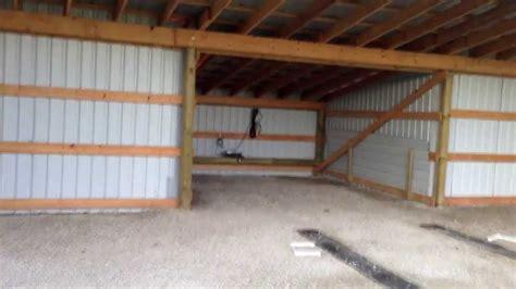 build  cheap hangar  pole barn youtube