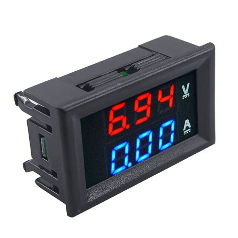 Dual Digital Voltmeter Plus Ammeter Er Meter dc100v 10a voltmeter ammeter blue led dual digital