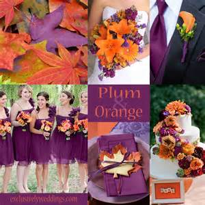 orange wedding colors plum wedding color four fantastic choices exclusively