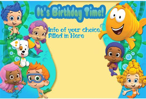 bubble guppies party invitations gangcraft net