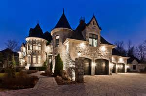 Garage Floor Plans With Living Space 3 88 million castle inspired home in quebec canada