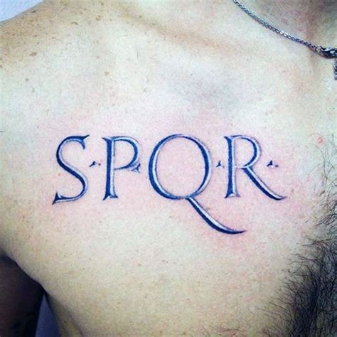 spqr tattoo meaning spqr
