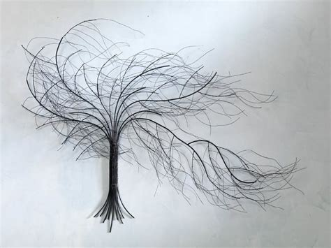 wire tree wall hanging home decor creative art drawing ideas wallpapersak painting