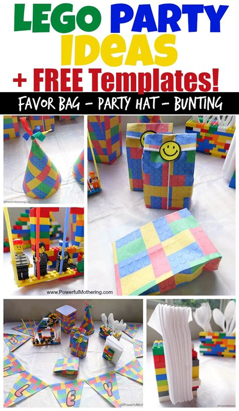 decorations themes lego birthday ideas and free lego templates