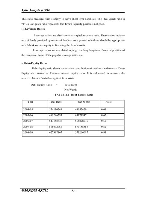 Mba Project Report On Financial Leverage by Ratio Analysis Nirani Sugar Limited Project Report Mba