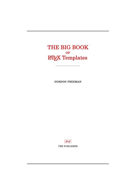 Latex Templates 187 Title Pages Cover Page Template
