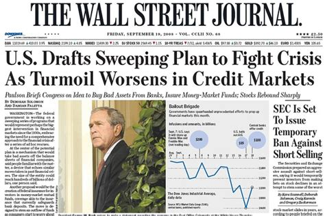 wall street journal business section this day in crisis history sept 19 2008 moneybeat wsj