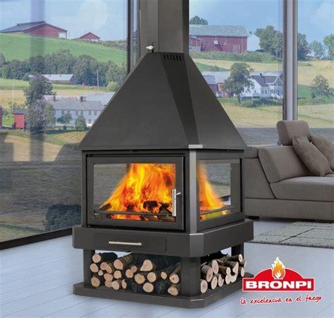 4 Sided Fireplace Wood Burning by Bronpi Huelva Stove 4 Sided Fireplace