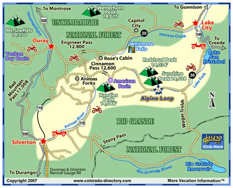 colorado jeep trail maps lake city jeeping atv trails map colorado vacation