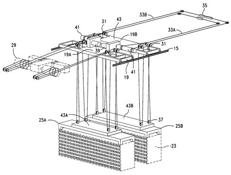 terex cranes wire rope reeving patent us7559429 wire rope reeving system for lift cargo container handling patents
