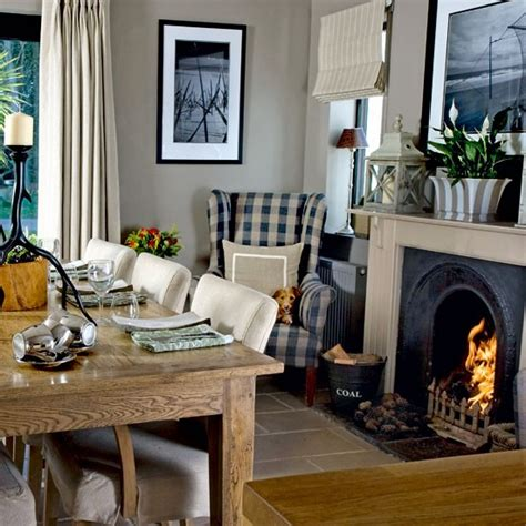 Dining Room Ideas With Fireplace Dining Room With Roaring Step Inside A Cosy