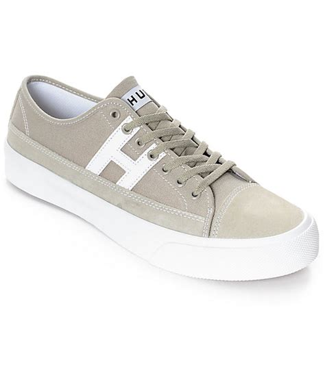 huf hupper 2 lo trainers in huf hupper 2 lo aluminum white skate shoes