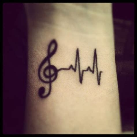 heartbeat rhythm tattoo music heart beat tattoo tattoo ideas pinterest