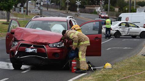 ballarat car crash two car crash blocks two lanes of traffic out of ballarat the courier