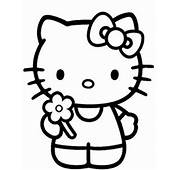 Hello Kitty With Flower Childrens Individual Wall Stickers