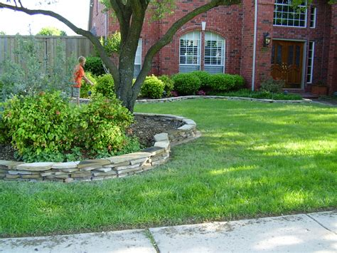 Landscape Edging With Rocks Flagstone Border Landscape Borders Flagstone And