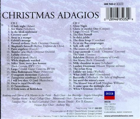 artists christmas adagios
