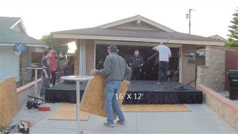 build your own stage lighting portable stage set with back drop