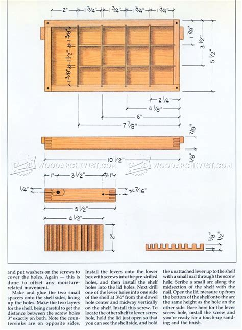 wooden jewelry box plans woodarchivist