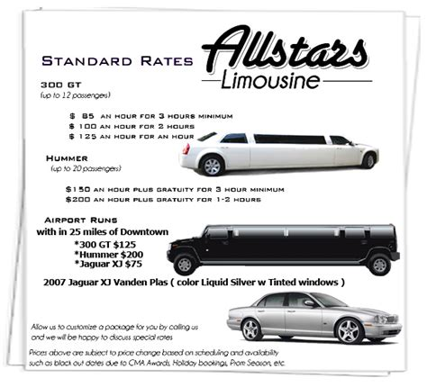 Limousine Service Rates by Gretchen Hansen Limo Rates Limo Service