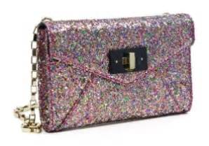 Chanel Kate Bosworth And Chanel Clutch Evening Bag by Chanel Silver Glitter Evening Bag