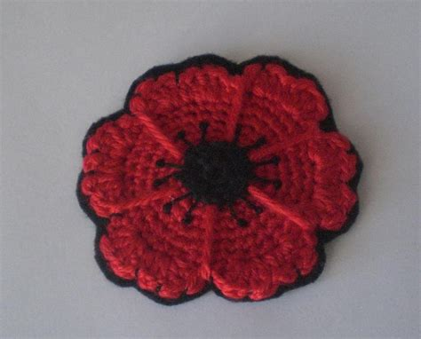 pattern crochet poppy crochet cute free pattern crocheted poppy flower coasters