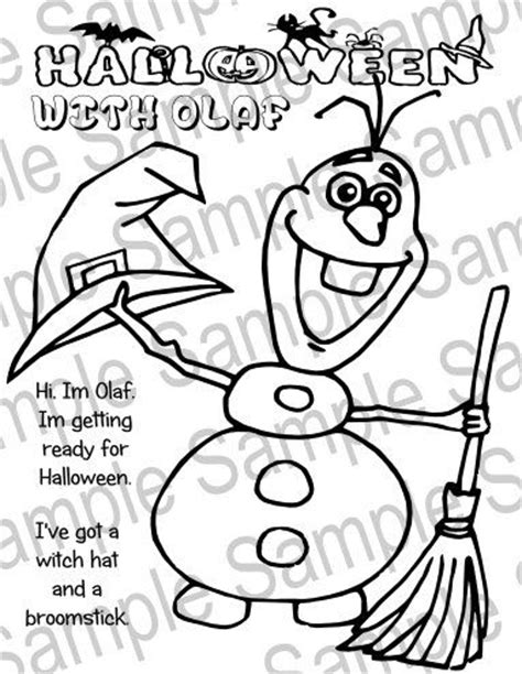 coloring pages frozen halloween hojas para colorear viol 237 n and olaf on pinterest