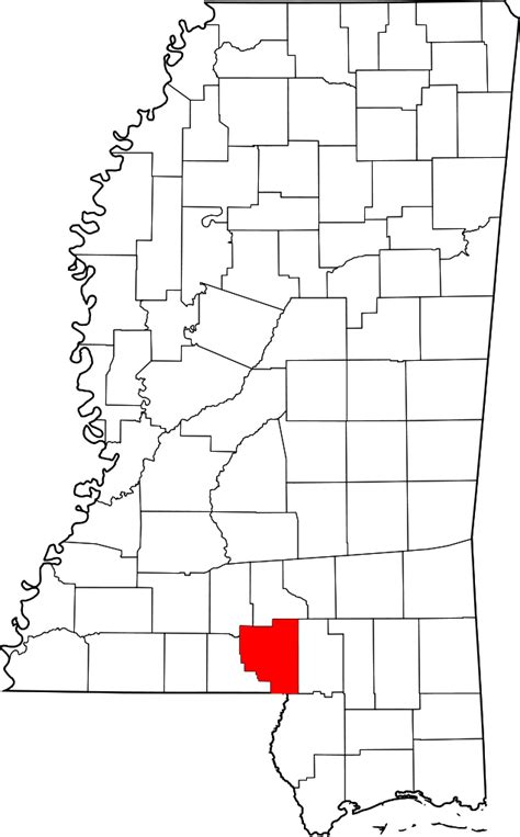 Marion County Free Records File Map Of Mississippi Highlighting Marion County Svg Wikimedia Commons