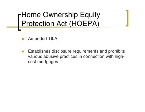 home ownership and equity protection act 28 images