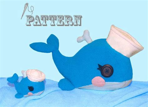 sewing pattern lalaloopsy whale plush  whale