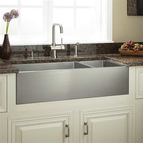 Kitchen With Farm Sink by 36 Quot Optimum 70 30 Offset Bowl Stainless Steel