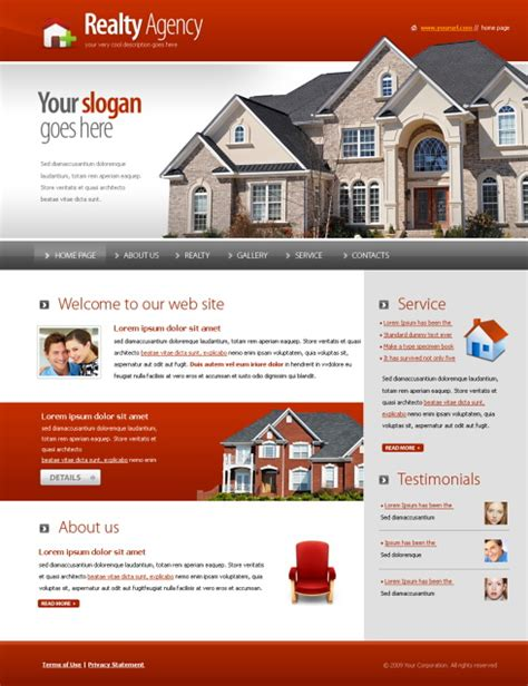 5573 Real Estate Building Website Templates Dreamtemplate One Page Real Estate Website Templates